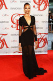 Zoe Saldana was all-out breathtaking in a black Prabal Gurung gown with sheer cutouts.