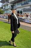 Mischa Barton got into the spirit of the races with her top hat, Delada jacket with tails and black trousers.