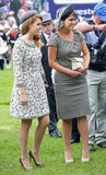 Princess Beatrice and Princess Eugenie went for a muted colour palette at the races.