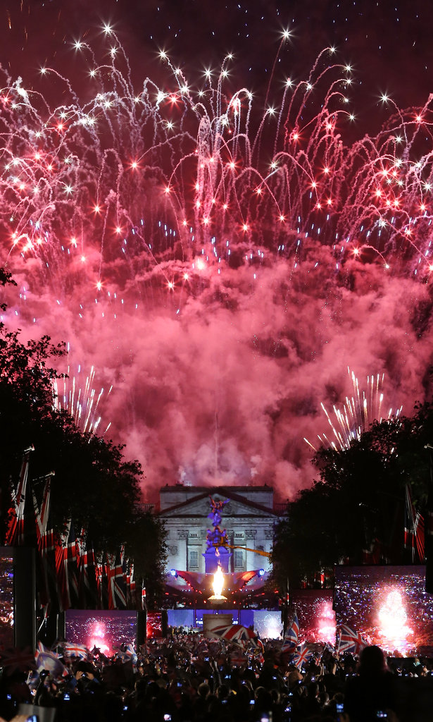 The fireworks were incredible at the Diamond Jubilee Concert at Buckingham Palace.