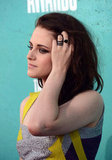 Kristen Stewart Picks a Metallic Mini For the MTV Movie Awards