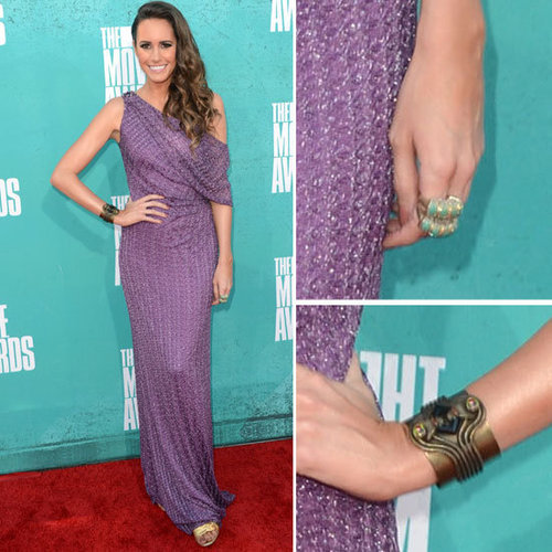 Pictures of Louise Roe in David Meister Gown on the red carpet at the 2012 MTV Movie Awards: Rate it or Hate it?