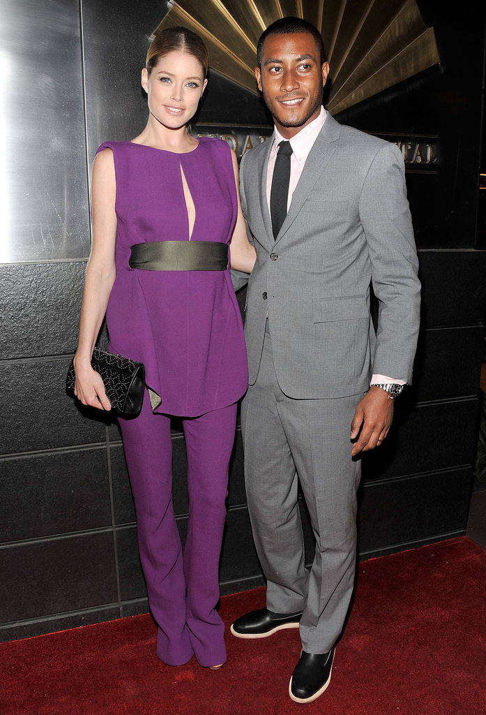 Doutzen Kroes (with husband DJ Sunnery James) wore Rachel Roy at the Spring Dinner Dance New Year's in April: A Fool's Fete in New York in April 2012.