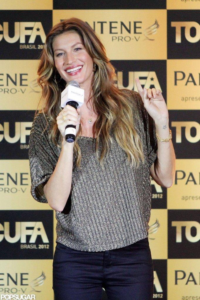 Gisele Bundchen Shows a Little Belly in Brazil