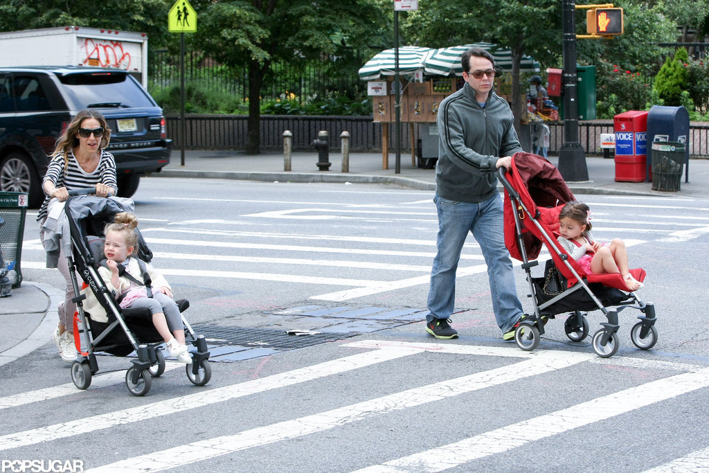 Sarah Jessica Parker and her family went out for a stroll around NYC.