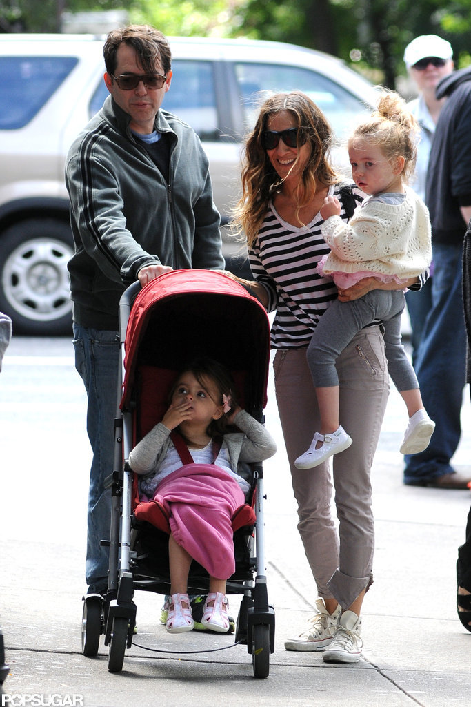 Sarah Jessica Parker and Matthew Broderick had a family day in NYC.