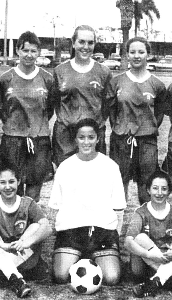 Kate Hudson, top right, was a soccer star first.