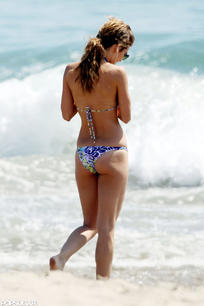 AnnaLynne McCord hit the beach in LA.