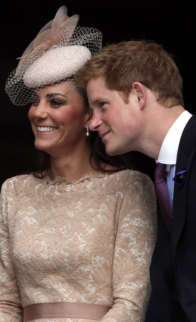 Kate enjoys herself with her brother-in-law, Prince Harry.