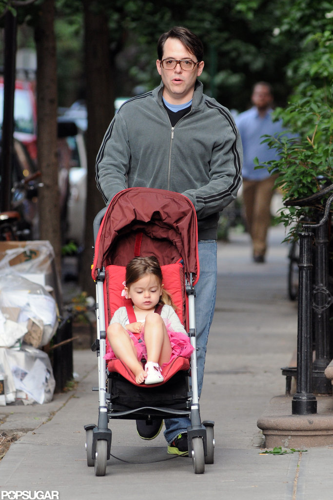 Matthew Broderick walked with Tabitha in NYC.