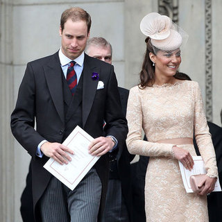 Kate Middleton, Prince William and Prince Harry Pictures at Diamond Jubilee Mass
