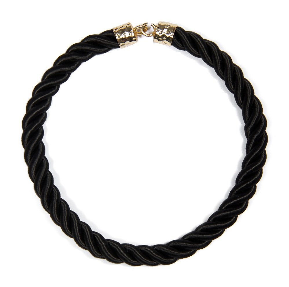 Pair this classic braided version with a neutral-colored top and skinny jeans for a more sophisticated polish. Mango Gerald Collar Necklace ($20)
