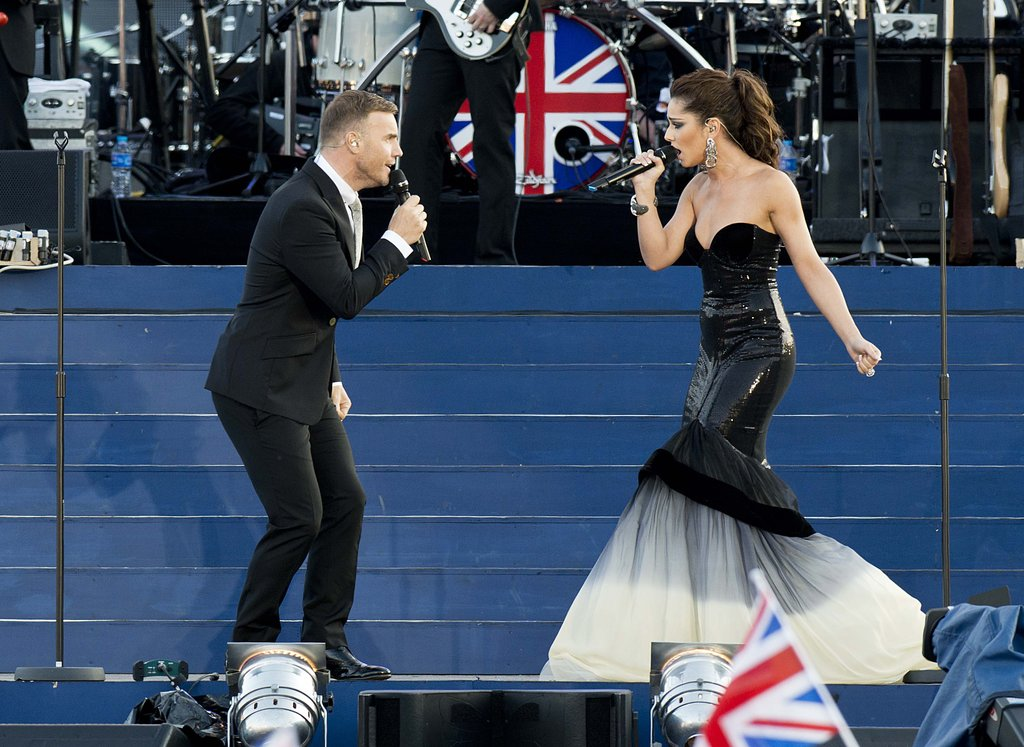 Gary Barlow and Cheryl Cole