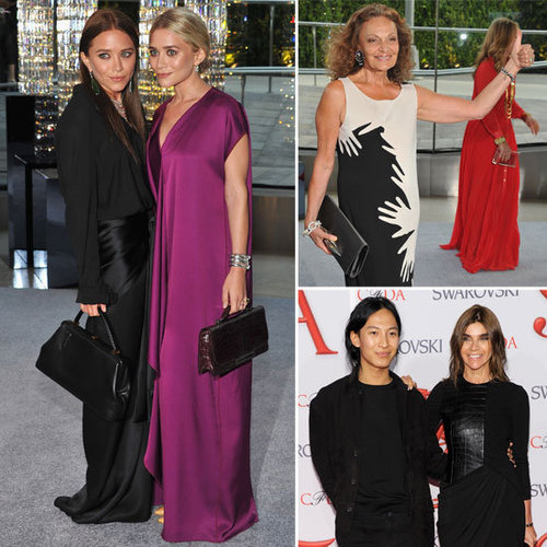 See What the Designer Pack Wore to the 2012 CFDA Awards: Mary-Kate and Ashley Olsen, Rachel Zoe and Alexander Wang
