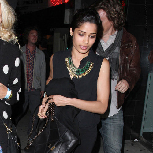 Freida Pinto Green Beaded Necklace