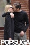 Kate Bosworth and boyfriend Michael Polish kissed while taking a stroll through the West Village in NYC.