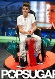Justin Bieber rode on a crazy contraption on El Hormiguero.