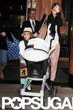 Jessica Alba left her NYC hotel pushing Honor in the stroller while Haven rode along wearing a straw hat.