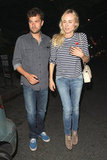Joshua Jackson and Diane Kruger dined out in Santa Monica.