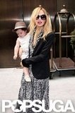 Rachel Zoe wore a black blazer and a dress in NYC.