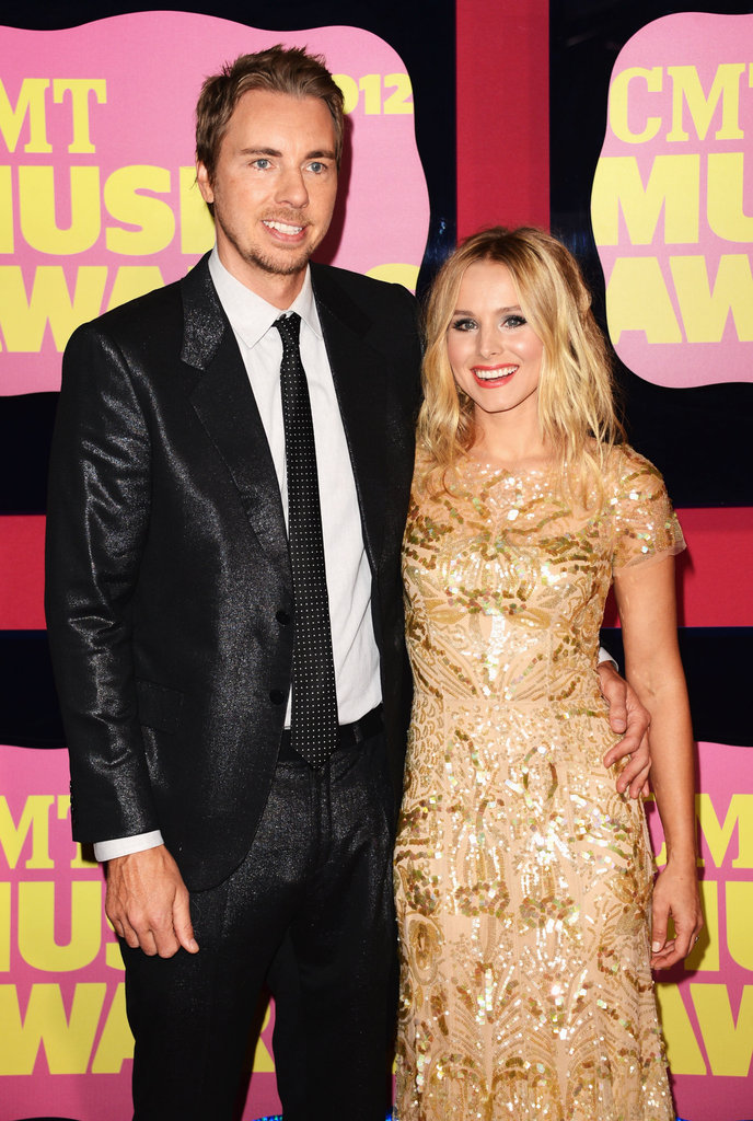 Kristen Bell brought fiancé Dax Shepard to the CMT Music Awards in Nashville.