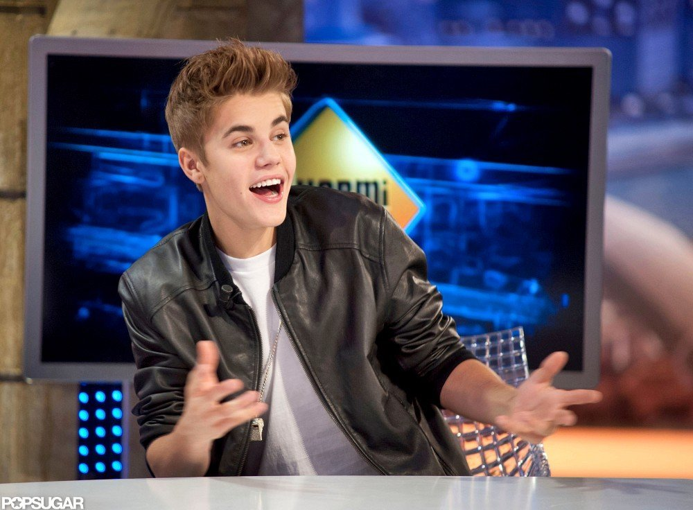Justin Bieber joked around on El Hormiguero.