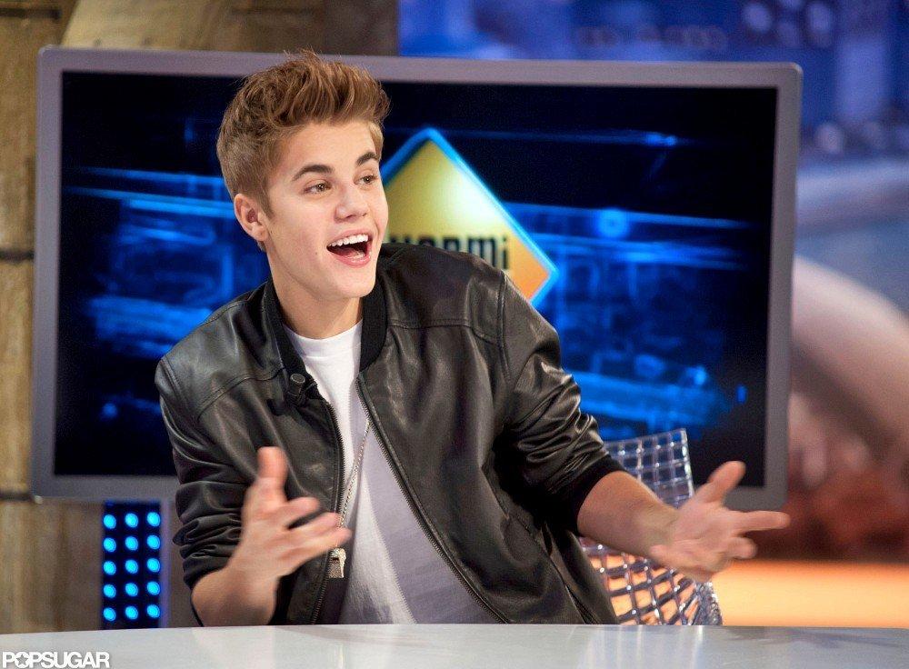 Justin Bieber joked around on El Hormiguero.
