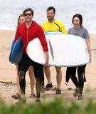 John Krasinski and Jimmy Kimmel are funny friends and neighbors. They kicked off 2012 together in Hawaii with their significant others and joked about the vacation on Jimmy's talk show.