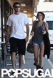 In March 2010, Miley Cyrus and Liam Hemsworth got sushi in LA.