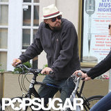 Leonardo DiCaprio got on a bike in NYC.