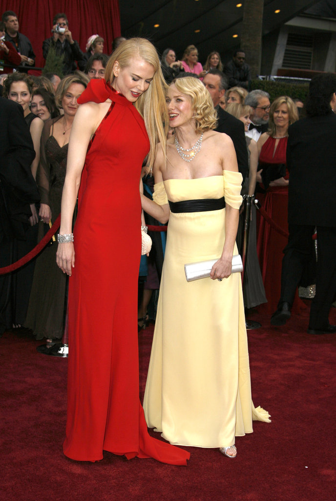 "Nicole Kidman and Naomi Watts aren't just fellow Aussie actresses; they're best friends. The ladies were classmates in high school, and their friendship is evident on red carpets to this day. Nicole has said of her friendship with Naomi that they are ""very, very good friends and have maintained that through so many things."""