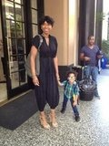 Jennifer Hudson spent time with her well-dressed son, David Otunga Jr. Source: Twitter user IAMJHUD