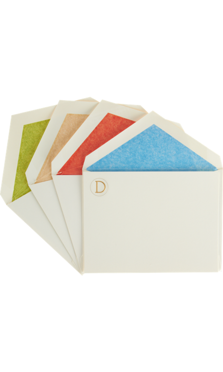 We're smitten with this candy-colored card set, and Dad will be, too. Go the extra mile by gifting them with a fantastic pen.  Connor Monogram Card Set ($75)