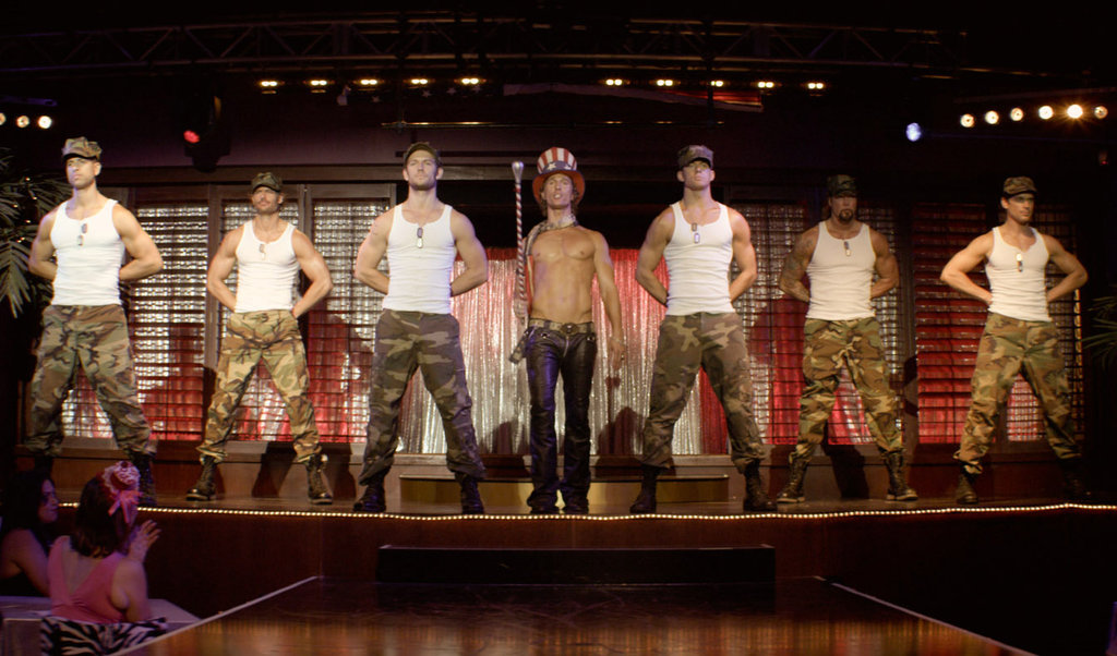 Joe Manganiello, Adam Rodriguez, Channing Tatum, Matthew McConaughey, Alex Pettyfer, Matt Bomer, and Kevin Nash in Magic Mike.