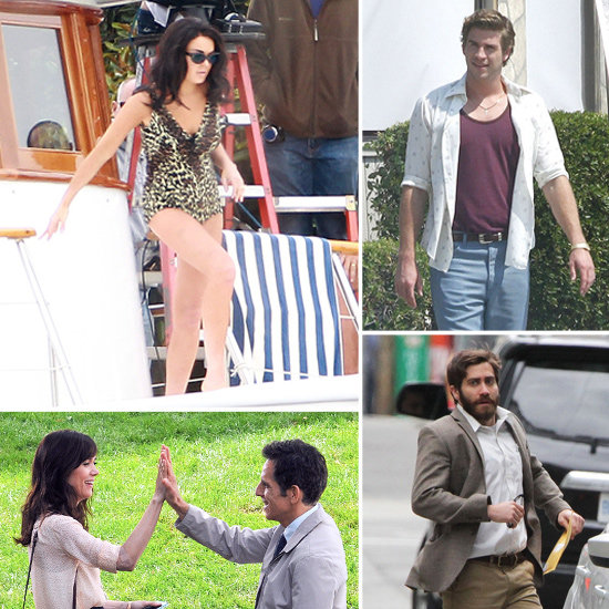 Liam Hemsworth, Lindsay Lohan, Jake Gyllenhaal, and More Stars on Set!