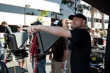 Director Steven Soderbergh on the set of Magic Mike.