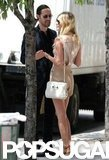 Kate Bosworth looked cute in short shorts and a tank for a stroll in NYC with boyfriend Michael Polish.