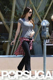 Megan Fox showed off a possible bump in LA.