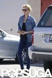 Charlize Theron rocked all denim.