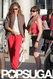 Donna Gosling said goodbye to Eva Mendes in Toronto.