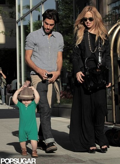 Rachel Zoe Brings Two of Her Main Men Along For a City Stroll
