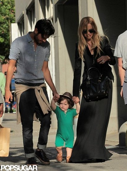 Skyler Berman held hands with Rachel Zoe and Joey Maalouf in NYC.