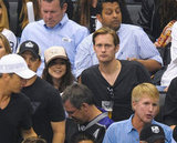 Alexander Skarsgard and Ellen Page got close at the LA Kings Stanley Cup finals game in LA.