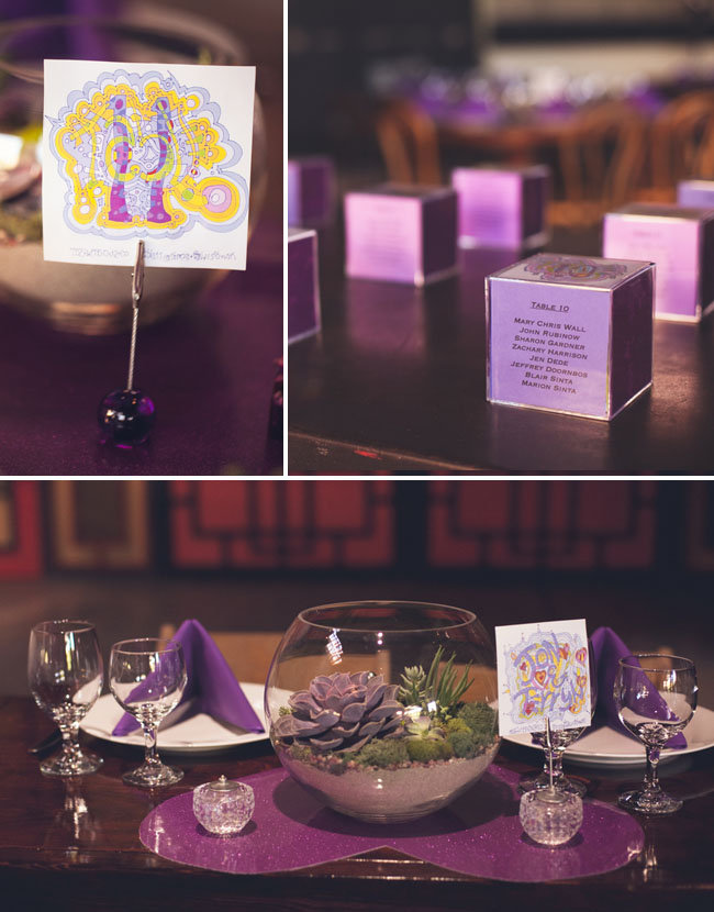 Psychedelic Table Cards