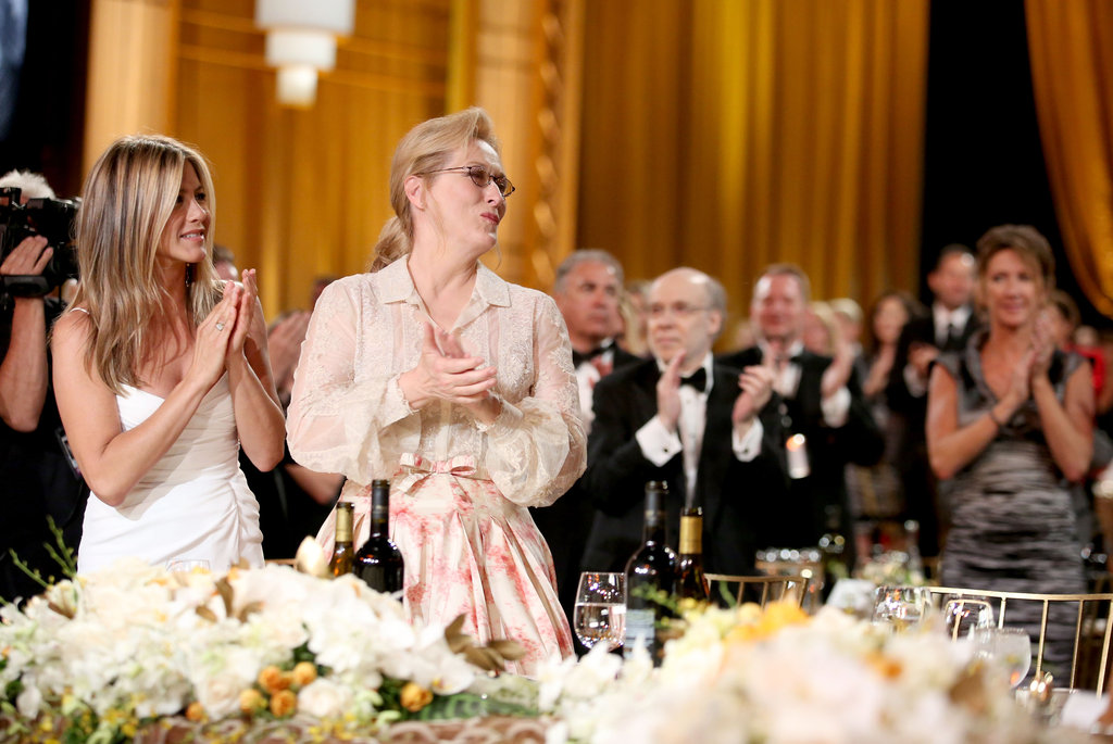 Jennifer Aniston stood with Meryl Streep at an AFI gala.