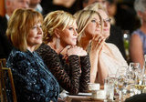 Jennifer Aniston, Melanie Griffith, and Meryl Streep sat together at the AFI Life Achievement Award dinner honoring Shirley MacLaine in LA.