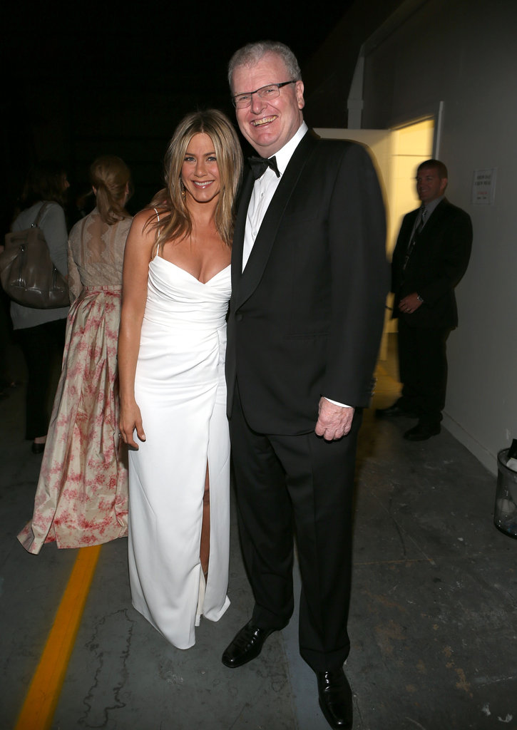 Jennifer Aniston was spotted an AFI gala with Howard Stringer.