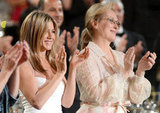 Jennifer Aniston stood at an AFI gala with Meryl Streep.