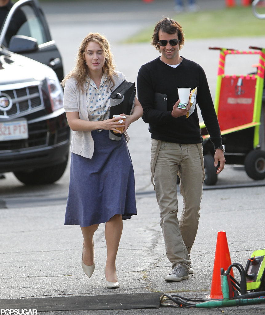 Kate Winslet and Ned Rocknroll were together on the set of Labor Day.