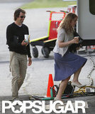 Kate Winslet was with boyfriend Ned Rocknroll on the set of Labor Day.